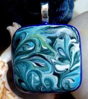 HippieChik Fused Glass Pendant by FireChickTick