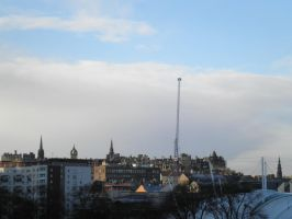 Cityscape Edinburgh 1 (from the hill) by Cippman