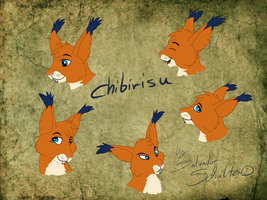 Commission - Chibirisu face expressions Part1 by StanHoneyThief