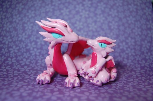 Pink Dragons by Snowifer