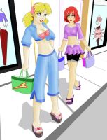 Karina And Kaffe Shopping by hect06