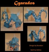 Paper Pokemon Gyarados by Adisko