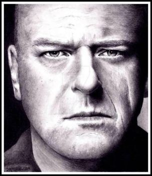 Dean Norris as HANK SCHRADER of BREAKING BAD by Doctor-Pencil