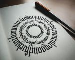 Calligram I by WhiteSylver