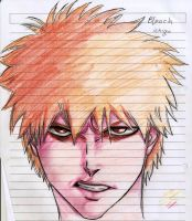 my try  to draw ichigo by spiritual2011s