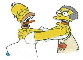 Homer Simpson and Smithers by brazilianferalcat