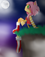Rosi in night time by DarkTheAngelHedgehog