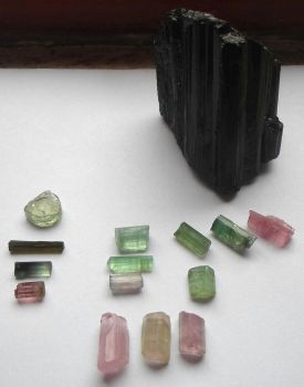Various tourmaline specimens by crovirus