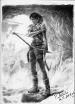 Lara Croft - Completed drawing by Raimondsy