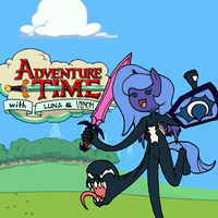 Adventure Time with Luna and Venom by DankoDeadZone
