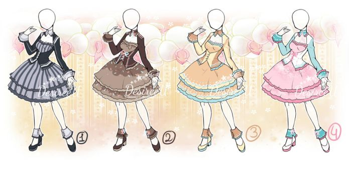 AtelierDesireeU: Prim Lady (CLOSED dress adopts) by DesireeU