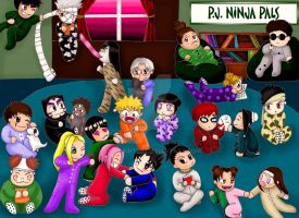 PJ Ninja Pals in Color by LadyWinter