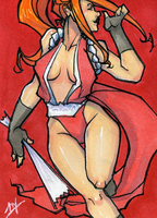 Sketchcard007 - Mai Shiranui by LMJWorks