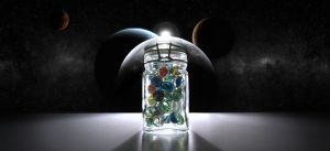 jar of marbles by matlis