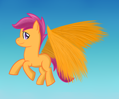 Fly High Scootaloo by wildberry-poptart