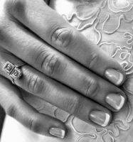 Wedding Day closeup by imaginee