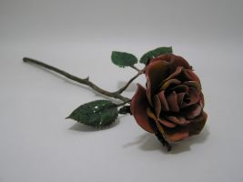 Enameled Copper Rose by knivesandroses