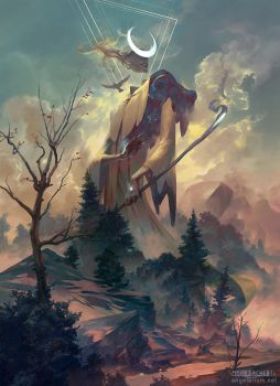 Remiel, Angel of Visions by PeteMohrbacher