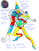 Harlequin Opal by claypuppington