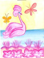 Swan is pink by roshducky