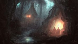 Jungle Speedpainting by artificialguy