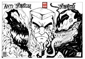 venom anti venom wrap around cover by darkartistdomain