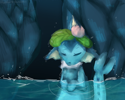 Painterly Practice: *In the blue Lagoon* by Samooraii