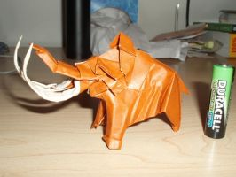 Origami Mammoth by haomaru87