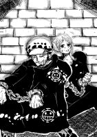 trafalgar law and nami by Nina1love1