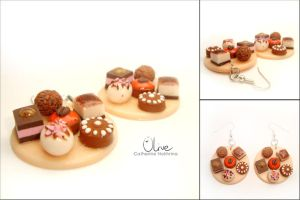Sweets - earrings by CinnamonFlavour
