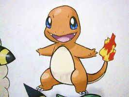 004 Charmander - painting by Crotchmonsoon
