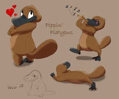 Pippin' Platypus by DJCoulzAnimalsOnly