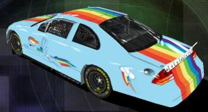 Rainbow Dash Nascar - Back by Framwinkle