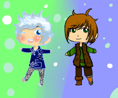 :PC: Jack Frost and Hiccup by pallaza