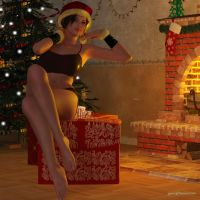 Young Lara: Merry Christmas! by JpauCroft
