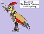 Fakemon: Excalibird by Piplup-Luv