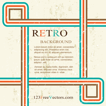 Retro Background Design Graphics by 123freevectors