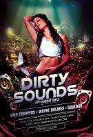 Dirty Sounds Flyer by styleWish