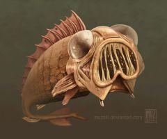 mutant fish thing by muzski