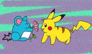 Marill's gift for pikachu by sunnyfish