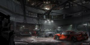 The Crew - Ubisoft: Garage Interior Design by ScribblePadStudios
