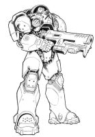 Marine unColored by zeNplus