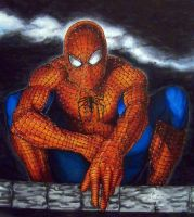 Spider-man at night. by Meador