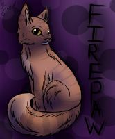 Firepaw in Purple by BeadFeather