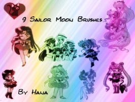 Sailor Moon Brushes by hanakt
