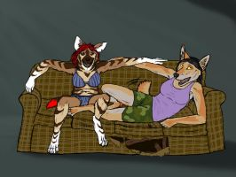 Couch Scene Contest Entry by SomehowStillAlive