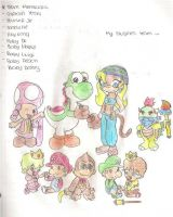 My Mario Sluggers Team by spiderboy1