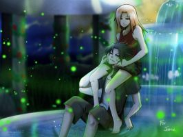 Commission: SasuSaku Fireflies by annria2002