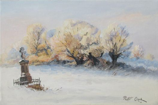 Winter landscape with chappel by Dreamnr9