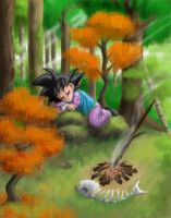 Goten Asleep in the Forest by Risachantag